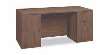 Foundation Small Office Double Pedestal Desk, Pinnacle