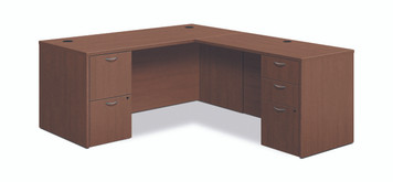 "Foundation 66"" L-Workstation, Shaker Cherry"