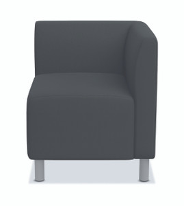 Greet Modular Corner Chair in Chacoal fabric