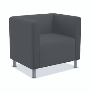 Greet Modular Lounge Chair in Charcoal fabric
