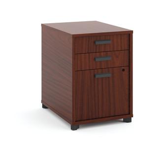 Manage Woodgrain Laminate Under Desk Pedestal in Chestnut