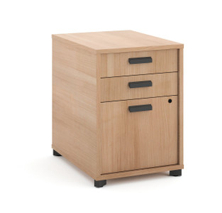 Manage Woodgrain Laminate Under Desk Pedestal in Wheat