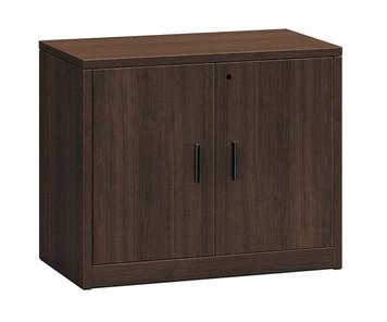 10500 Series Woodgrain Laminate Storage Cabinets in Mocha