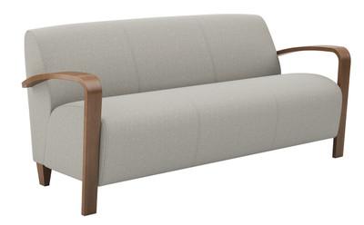 Reno 3 Seat Sofa With Wood Arms U0026 Legs