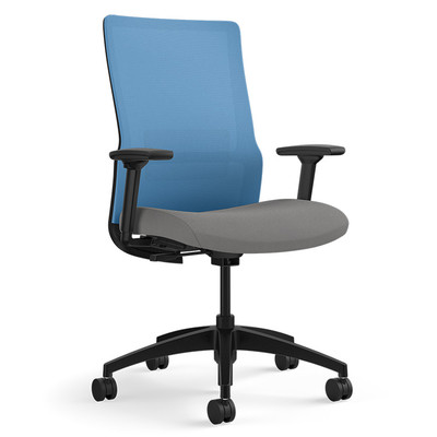 SitOnIt Novo Task Chair with Ocean Mesh with height adjustable arms