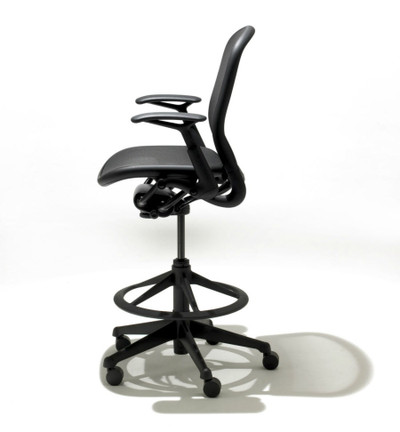 Charmant ... Knoll Chadwick Tilt Stop High Task Chair In Black 05 Monofilament ...