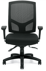 Mesh Back Multi-Function Chair with Height and Width Adjustable Arms