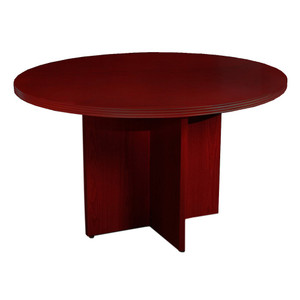 "Mayline Luminary Wood Veneer 36"" Round Table with Cherry Finish"