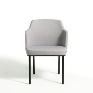 Knoll Remix Side Chair Quickship with glides and Quickship black frame