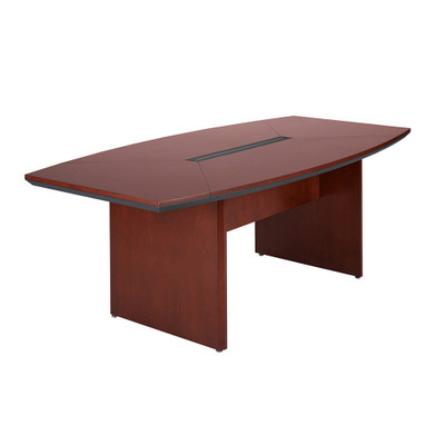 Mayline Corsica Wood Veneer BoatShaped Conference Table - Cherry conference room table