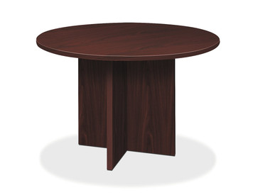 "Foundation Round 47"" Laminate Conference Table, Mahogany"