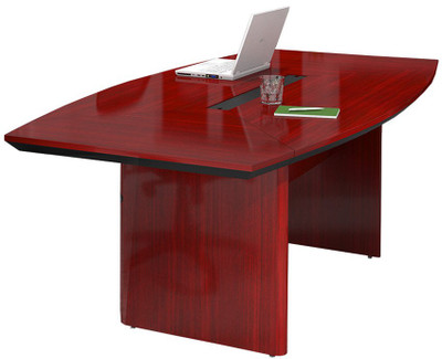 Boat Shaped Conference Table Mayline Conference Table - Wood veneer conference table