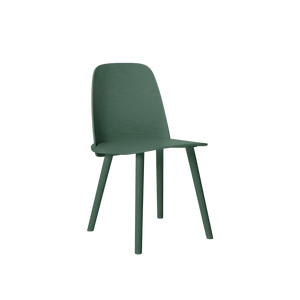 Muuto Nerd Wood Chair, Dark Green