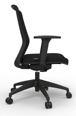 Atto Weight Sensing Executive Task, Black seat Onyx Mesh back, side