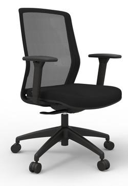 Atto Weight Sensing Executive Task, Black seat Onyx Mesh back
