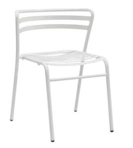 Reklin Stack Chair, white