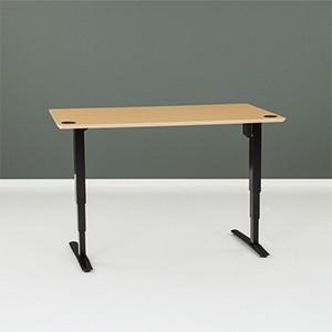 501-43 Laminate Electric Sit-Stand Desk, black frame