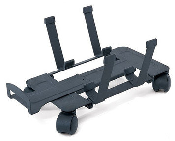 Humanscale CPU Dolly shown in standard black finish