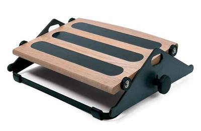 Humanscale Foot Machine Rest In Natural Wood Finish