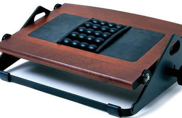 Humanscale Foot Machine With Massage Balls Foot Rest  in Dark Cherry Wood Finish 2