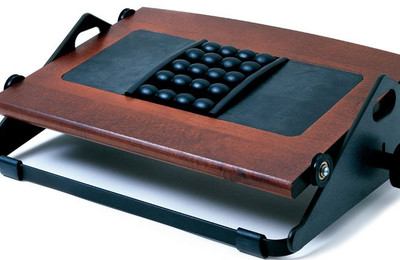 Humanscale Foot Machine With Mage Rest In Dark Cherry Wood Finish 2