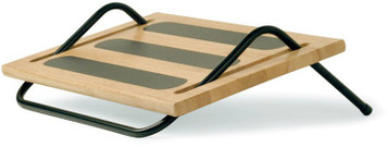 Humanscale Tilting Foot Rest in Natural Wood Finish