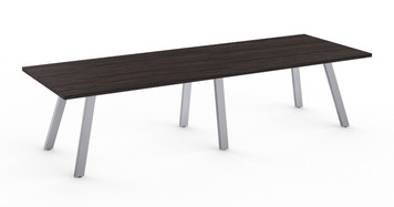 Aim XL 8' Conference Table with Silver base and Asian Night HPL