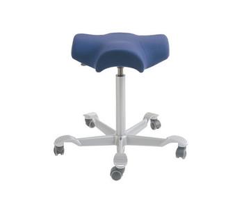 HAG Capisco 8105 Saddle Seat Stool  in Silver Foot-base Purple Textile
