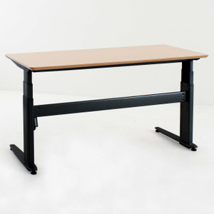 Conset 501-27 Laminate Electric Sit-Stand Desk with Black Frame