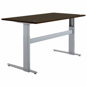 Conset 501-25 Laminate Electric Sit-Stand Desk with Silver Frame