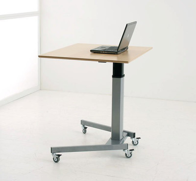 Conset 501-19 Heavy Duty Corner Sit-Stand Electric Desk with Small rectangle top