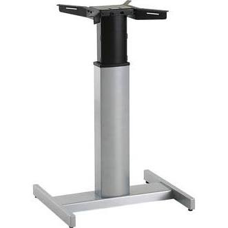 Conset 501-19 Compact Electric Sit Stand Desk Silver Frame