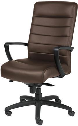 EuroTech Manchester High Back Leather Executive Chair In Brown Leather