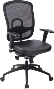 EuroTech Accent Leather Synchro-Tilt Task Chair front view