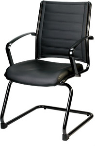 EuroTech  Europa Metallic Leather Guest Chair