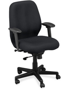 EuroTech Aviator Fabric Task Chair in black fabric