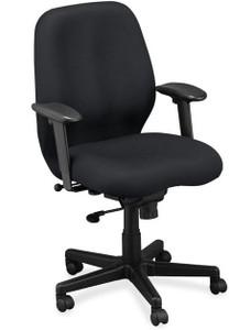 EuroTech Aviator Fabric Task Chair in black fabric