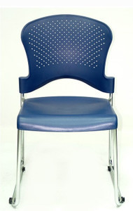 EuroTech Aire S3000 Stack Chair in navy & Stackable Conference Room Chairs | Nesting Chairs with Arms