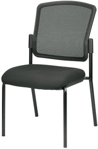 Awesome EuroTech Dakota2 Mesh Back Stacking Guest Chair No Arms