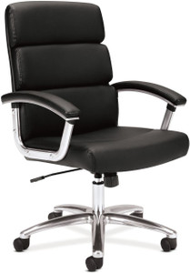 Basyx by Hon Leather Executive Mid Back Chair