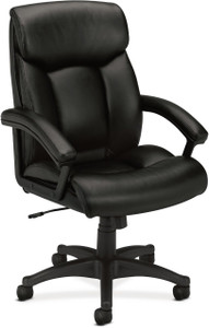 Bayx by Hon Leather Executive High-Back with Integrated Headrest