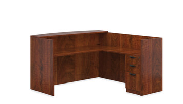 Offices To Go SL-O Reception Desk in American Dark Cherry