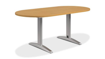 """Hon Preside 72"""" Racetrack Conference Table in Harvest Finish"""