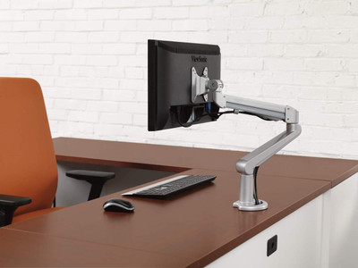 Bon Hon Single Monitor Arm With Desk Clmap In Office Setting