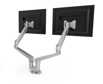 Hon Dual Monitor Arm with monitors