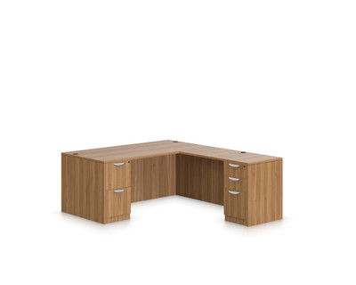 offices to go sls executive l desk in autumn walnut awl