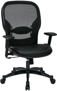 Eco Leather Seat Mesh Back Managers Chair