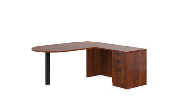 "Offices To Go SL-K 71"" Personal Peninsula Desk in American Dark Cherry ADC"