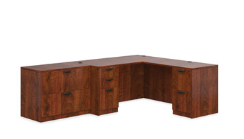 "Offices To Go SL-N 66"" L Desk Suite in American Dark Cherry ADC"