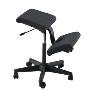 Varier Wing Kneeling Chair in Black Fame fabric